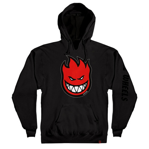 [Spitfire] BIGHEAD FILL PULLOVER HOODED SWEAT SHIRT - BLACK/RED