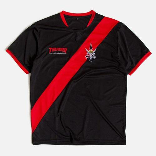 [Thrasher] THRASHER FUTBOL Jersey - Black/Red