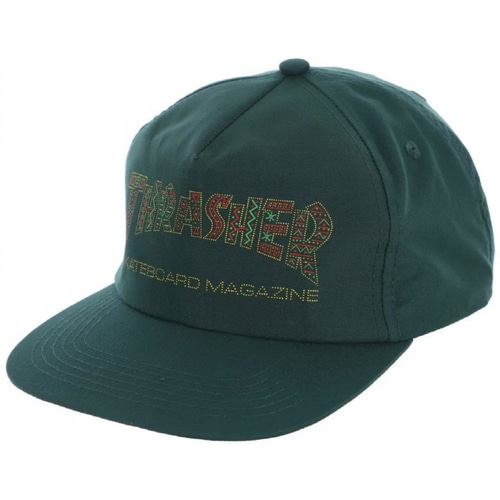 [Thrasher] DAVIS Snapback - Forest Green