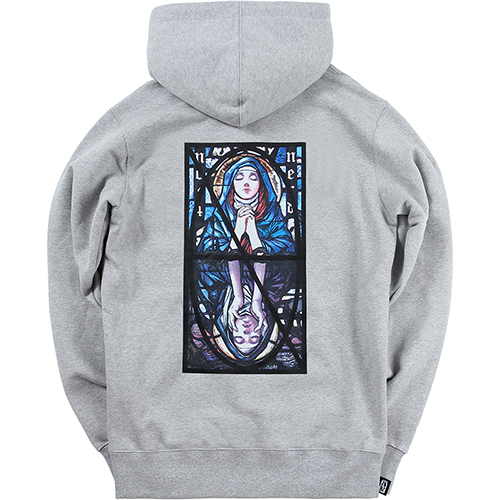 [NOT4NERD]Two Virgin Mary Pullover Hood - Grey