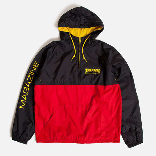 [Thrasher] MAG Logo Anorak - Black/Red