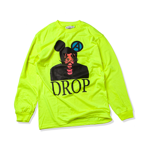 [KING] DROP Long Sleeve -Neon Green