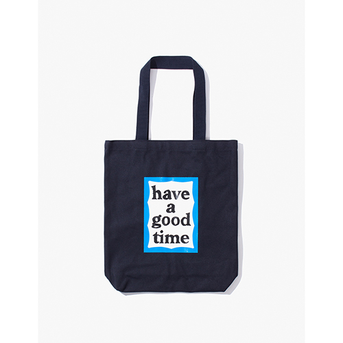 [Have a good time] BLUE FRAME TOTE - NAVY