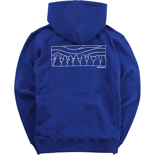[NOT4NERD]Distorted Sky Line Pullover Hood  - Blue