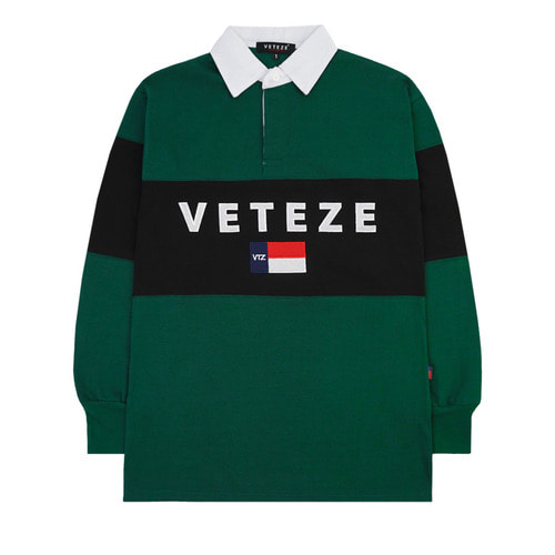 [VETEZE] Big Logo Rugby T-shirt (green / black)