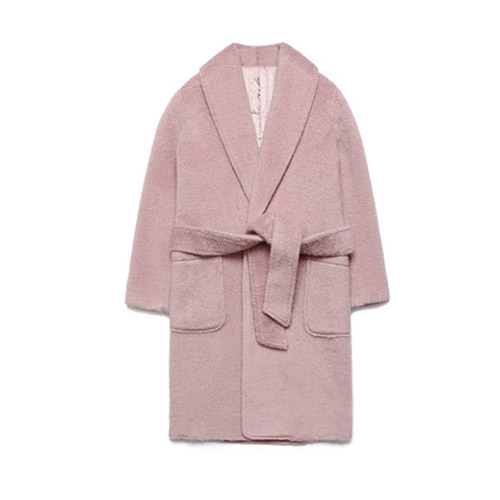 [LAFUDGESTORE] Teddy Bear Robe Coat_Pink