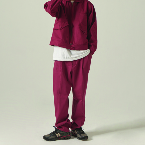 [CHOISI]Primary Cotton Pants, Burgundy