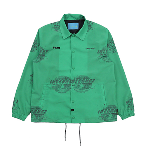 [AJOBYAJO FINK LABEL] Internet Coach Jacket [Green]
