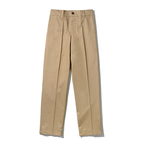 [TENBLADE] [Project 36.5]Standard Cotton Taperde Banding Pants_Beige