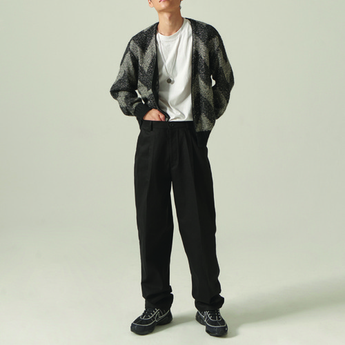 [CHOISI]Primary Cotton Pants, Black