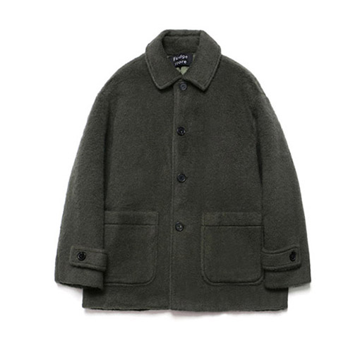 [LAFUDGESTORE] Teddy Bear Over Half Coat_Khaki