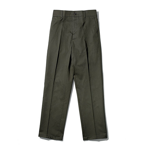 [TENBLADE] [Project 36.5]Standard Cotton Taperde Banding Pants_Khaki