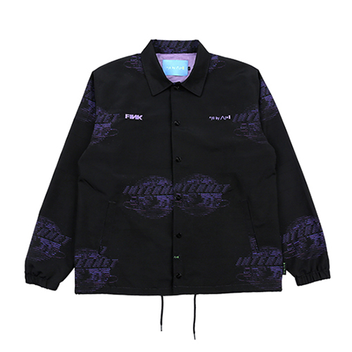 [AJOBYAJO FINK LABEL] Internet Coach Jacket [Black]
