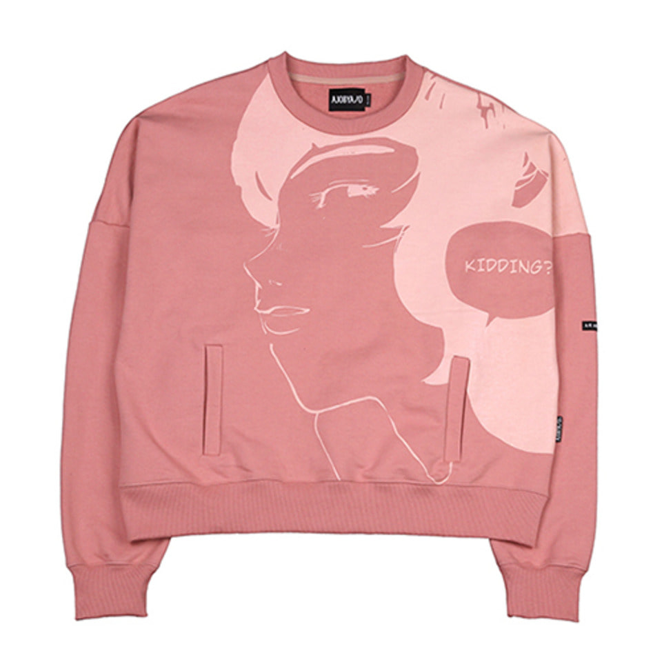 [AJOBYAJO] Manga Heavy Sweat Shirt  [Pink]