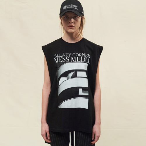 [20%할인][SLEAZY CORNER] BAUHAUS SLEEVELESS-BLACK