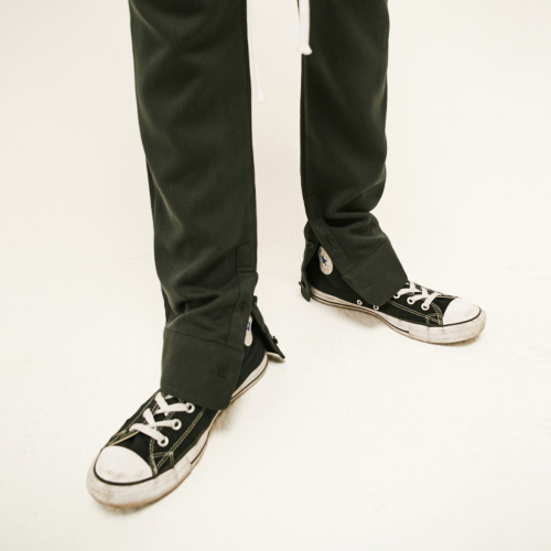 [20%할인][SLEAZY CORNER] CUFFS SLIM PANTS-CHARCOAL