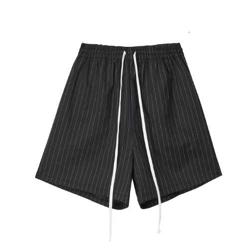 [20%할인][SLEAZY CORNER] HALF PANTS-STRIPE BLACK