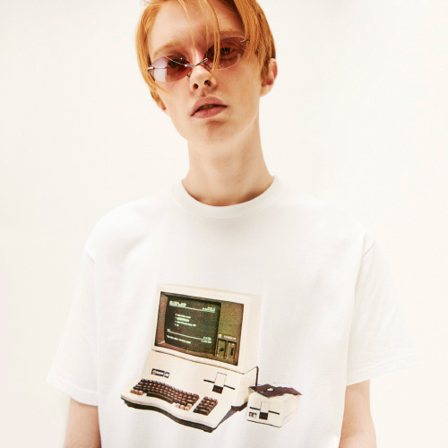 [20%할인][SLEAZY CORNER] PROGRAM HALF T SHIRT-WHITE