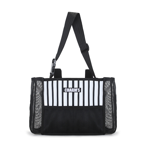 [CHARM'S] L2 Multipurpose bag / STRIPE_BK