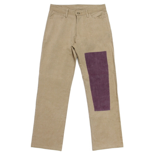 [EASY BUSY] Simple Patchwork Pants - Beige&Purple