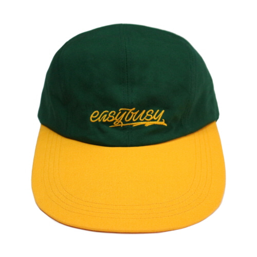 [EASY BUSY] Simple Logo Long Bill Cap - Yellow&Green