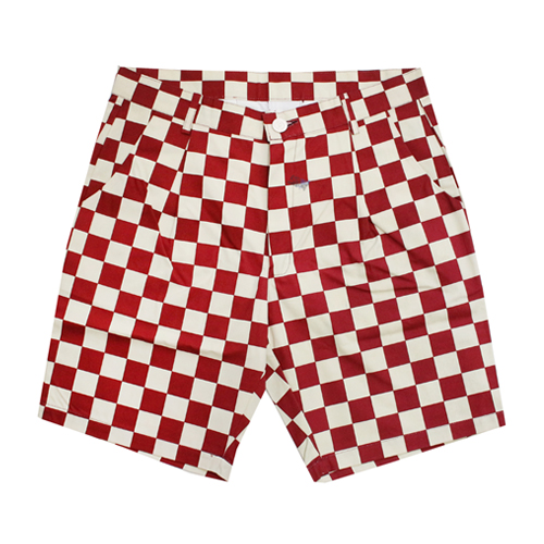 [EASY BUSY] Half Shorts  - White&Red