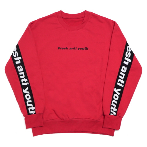 [Fresh anti youth] Band-Crewneck Sweater - Red