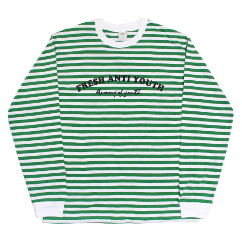 [Fresh anti youth] Border-Long Sleeve - Green