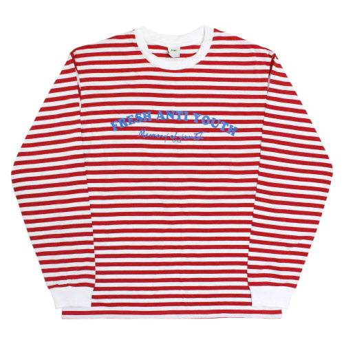 [Fresh anti youth] Border-Long Sleeve - Red