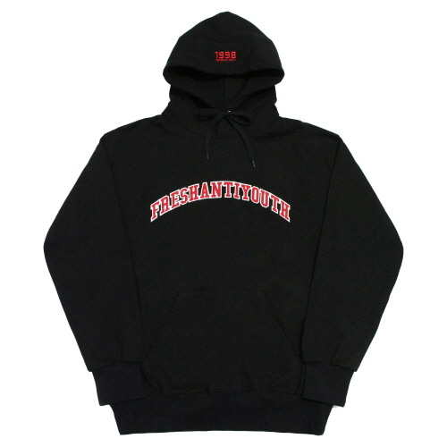 [Fresh anti youth] 1998 College Hood Sweater - Black