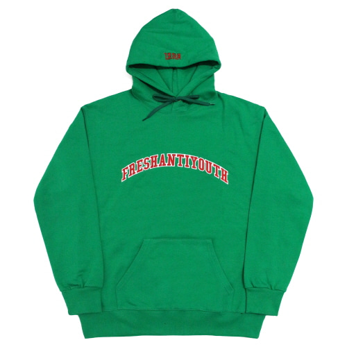 [Fresh anti youth] 1998 College Hood Sweater - Green