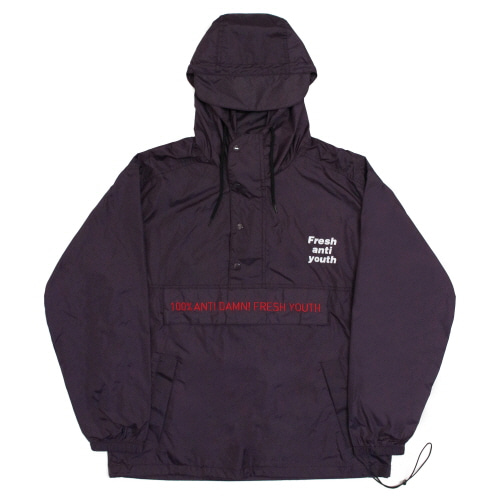 [Fresh anti youth] Anti Damn Anorak-Jacket - Purple