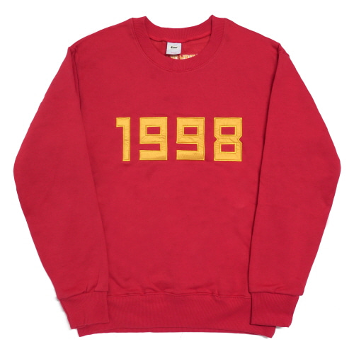 [Fresh anti youth] 1998-Crewneck Sweater - Red