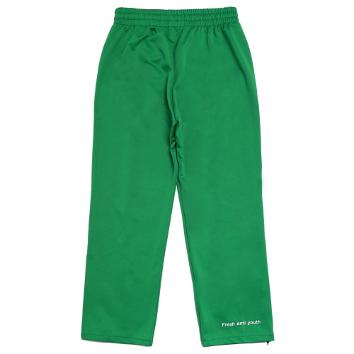 [Fresh anti youth] Logo Zip Track Pants - Green