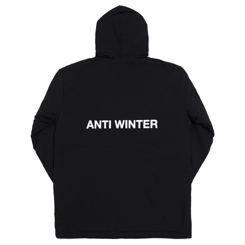 [Fresh anti youth] Anti Winter Fray Parka - Black