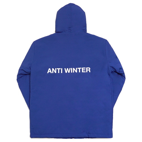 [Fresh anti youth] Anti Winter Fray Parka - Blue