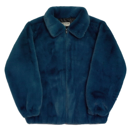 [Fresh anti youth] Logo Fur Jacket - Blue