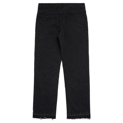 [Fresh anti youth] Basic Denim Pants  - Black