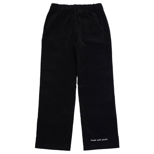 [Fresh anti youth] Corduroy Wide Pants - Black