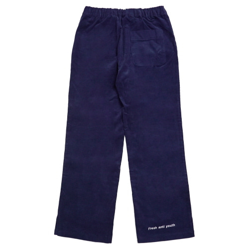 [Fresh anti youth] Corduroy Wide Pants - Navy