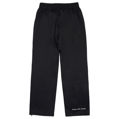 [Fresh anti youth] Logo Zip Track Pants - Black