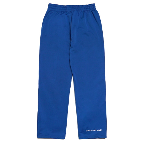 [Fresh anti youth] Logo Zip Track Pants - Blue