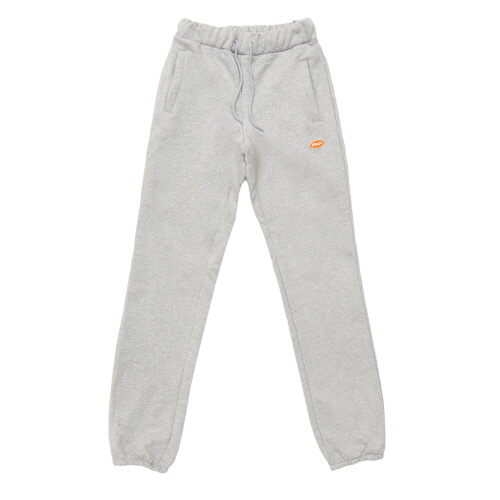 [FRAY] LOGO BASIC SWEAT PANTS - GREY