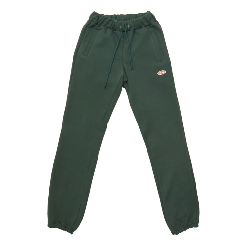 [FRAY] LOGO BASIC SWEAT PANTS - GREEN