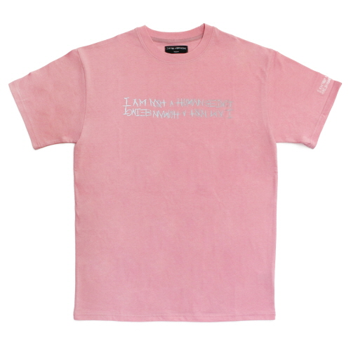 [17SS] Retro Reflective Basic Logo T-Shirts - Pink