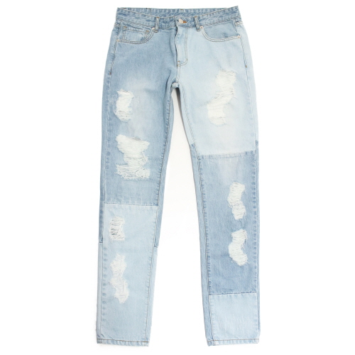 [17SS] Denim By Denimy Destroyed Jean - Sky Blue