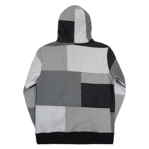 [17W] Patch Work Basic Logo Hoodie - Achromatic Color