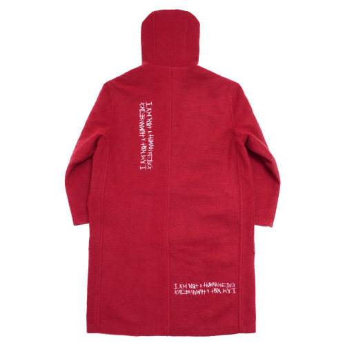 [17W] Patch Work Duffle Coat - Red