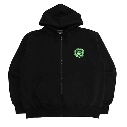 [18FW] OFFICIAL SEALED ZIP-UP HOODIE - BLACK/GREEN