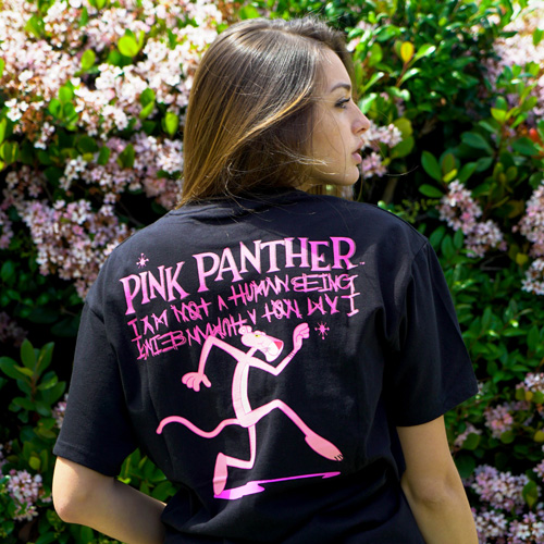 [PPXHB] Pink Panther and Inspector T-Shirt - Black
